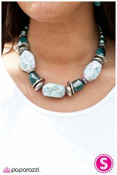 In Good Glaze -Blue Set ( earrings included) @ $5 !!! Shop.paparazziaccessories.com/45499
