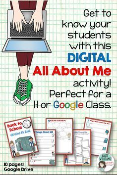 Read More About All About Me Digital Activity for Upper Elementary / Middle School Students! Middle School Classroom, 1st Day Of School, Beginning Of School, High School, Flipped Classroom, First Day Activities, Back To School Activities, School Ideas, Google Drive