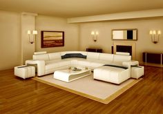 Large Elegant Modern Leather Sectional from Opulent Items IHSO01292