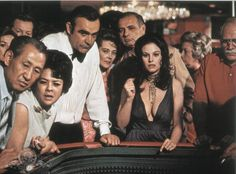 Still Of Sean Connery And Lana Wood In Diamonds Are Forever