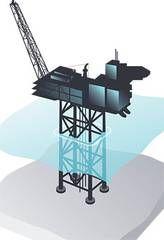 Illustration of Statoils new #platform #Gudrun. (Source: #Statoil)