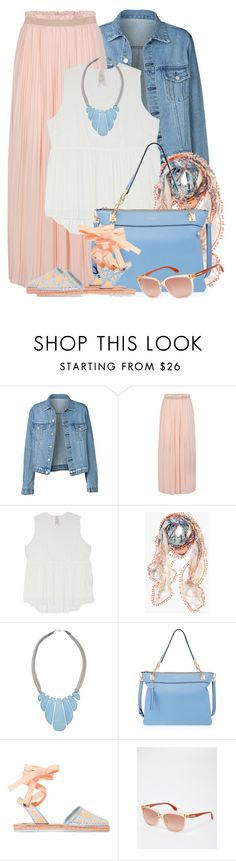 """Maxi Skirt & Denim Jacket"" by brendariley-1 ❤ liked on Polyvore featuring Morgan, Melissa McCarthy Seven7, Chico's, John Lewis, Henri Bendel, Sophia Webster, Calvin Klein and plus size clothing"