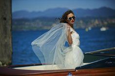 Vania Dress at Sirmione Lake Garda in Aquariva boat. 1