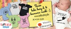 www.lolkashop.hu - vicces, vagány és trendi baba body-k és kismama pólók webáruháza