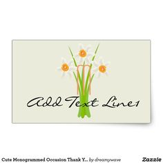 Cute Monogrammed Occasion Thank You Sticker