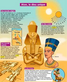 Exhibit: Aton, the unique god - Mary Martinez Ancient Egypt, Ancient History, Egypt Map, The Bible Movie, Alternative Education, French Expressions, French Phrases, Egyptian Mythology, French History