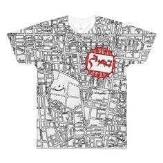 'Map of Tehran' Persian T Shirt