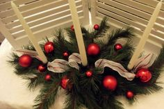 Traditional+Christmas+Centerpiece+by+BugsBlooms+on+Etsy,+$25.00