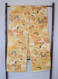 Vintage Japanese Maru obi kimono sash belt by SACHIandCOMPANY