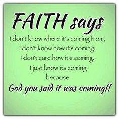 Faith says...