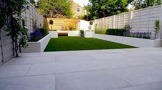 Modern garden design contemporary garden design by based gar Garden Design London, London Garden, Small Garden Design, Small Garden Wall Ideas, Back Garden Ideas, White Gardens, Small Gardens, Outdoor Gardens, Modern Gardens