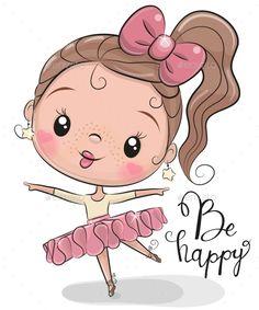 Cute Ballerina on a white background. Cute Cartoon Ballerina on a white background stock illustration Cartoon Clip, Cute Cartoon Girl, Cute Teddy Bears, Smileys, Belle Photo, Doodle Art, Cute Drawings, Cartoon Characters, Cute Art