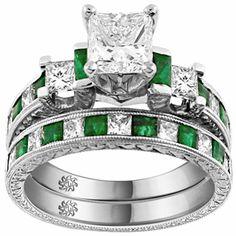 unique engagement wedding ring sets ...