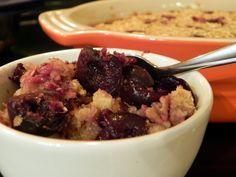 Cherry Vanilla Baked Oatmeal - {Made 1 1/2 recipes.  Used all honey instead of br.sugar, sour cherries, and almond extract in place of 1 teas. of the vanilla.  T said he felt like he was eating dessert.  M said make this again! }