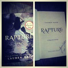 (Fallen by Lauren Kate autographed Lauren Kate, Fallen Series, Books, Libros, Book, Book Illustrations, Libri