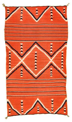 Late Classic Navajo Child's Wearing Blanket, c. 1870 @ Heritage Auctions this one in Sold likely Native American Blanket, Native American Rugs, Native American Patterns, Native American Artwork, Native American Design, Indian Patterns, American Indian Art, American Indians, Navajo Weaving