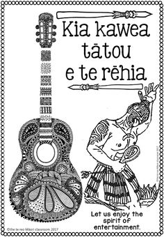 thetereomāoriclassroom: Whakataukii Colouring Pages. the best!