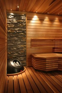 Need some relaxing time ? Looks like a perfect room to do so ♥ #sauna #relax