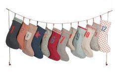 Calendar Garland Socks by Maileg at Gilt Christmas Countdown, Christmas Angels, Christmas Home, Christmas Stockings, Christmas Crafts, Christmas Ideas, Advent Calenders, Christmas Crackers, Xmas