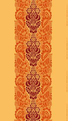 "Marianne Coveney European Essentials ""Ananas"" Marimekko Fabric, Color 231, Yellow, 100% Cotton. Design: Maija Isola, Finland"