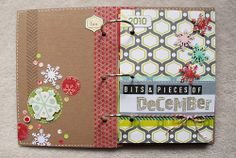 December memories in a mini book. Great use of papers!