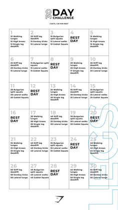 For all your workout inspiration, try this Legs 30 Day workout challenge. It can be completed at home or at the gym. Let's smash those fitness targets, together! Including lunges and deadlifts, you'll get your heart pumping! 30 Day Fitness, Family Fitness, Workout Fitness, Fitness Pal, Anytime Fitness, Physical Fitness, 30 Day Ab Workout, 30 Day Workout Challenge, Workout Wear