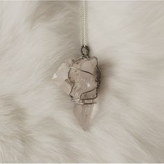Pik is the epitome of crystals of it's kind. The shape alone is reminiscent of the mountains surrounding it's homeland of Tibet and still clings to fragments of rock. It's raw earthiness gives this stone so much charm. 11  Click the link in the bio!  #necklace #jewellery #rawcrystal #crystals #gems #quartz #gothic #goth #girl #alternative #fashion #womensfashion #wirewrapped #handmade #softgrunge #grunge #style #reiki #crystalhealing #spiritual #natural #stones #pagan #silver #cute…