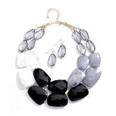 Black Chunky Statement Necklace & Earrings Set for Prom or Homecoming $29.95 great for day or night!