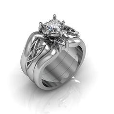 Plata corazón Cubic Zirconia nudo celta amor por Majesticjewelry99
