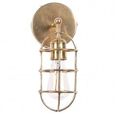 Restoration Warehouse Brass Solid Wall Sconce - Oval