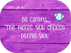 Facebook Quote: The Words You Choose, Define You #KidsCreativeChaos