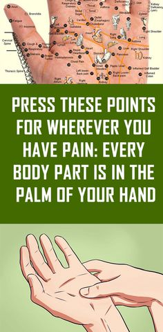 Press These Points for Wherever You Have Pain Every Body Part Is in the Palm of Your Hand