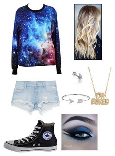 """""""Galaxy"""" by savannah-hanlon ❤ liked on Polyvore featuring Zara, Converse, Marc by Marc Jacobs and Bling Jewelry"""