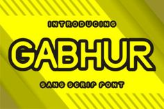 Gabhur is a cool and techno looking sans serif font. It will look stunning on any poster flyer or print.... Sans Serif Fonts, All Fonts, Modern Fonts, Premium Fonts, Looking Stunning, Techno, Improve Yourself, Lettering, Logo