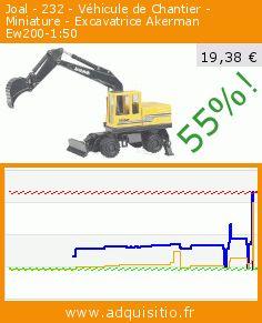 Joal - 232 - Véhicule de Chantier - Miniature - Excavatrice Akerman Ew200-1:50 (Jouet). Réduction de 55%! Prix actuel 19,38 €, l'ancien prix était de 43,22 €. https://www.adquisitio.fr/joal/232-v%C3%A9hicule-chantier