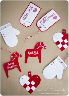 Christmas tags, free download (in English & Swedish) - from Craft & Creativity