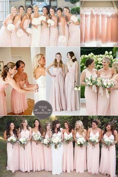 Blush Bridesmaid Dresses for Spring Summer Wedding Ideas 2015~ #tulleandchantilly