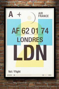 """Actualité / """"Flight Tag Prints"""", un voyage vers le passé / étapes: design & culture visuelle"""