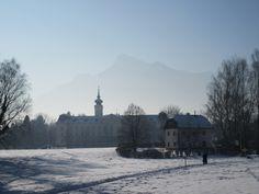 Berg im Hintergrund Stadtimpressionen von Salzburg