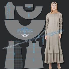 45 ideas for fashion hijab rok motif Dress Sewing Patterns, Sewing Patterns Free, Free Pattern, Fashion Fabric, Fashion Sewing, Sewing Clothes Women, Clothes For Women, Diy Bags No Sew, Abaya Pattern
