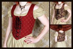 Ready to Ship  Reversible Renaissance Wench by VeneficaCorsetry