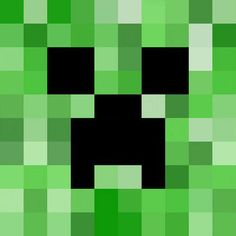print out and glue onto a square cardboard box. on other sides, glue a regular creeper pattern