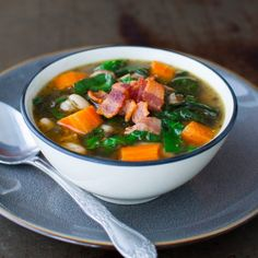 ... bacon pork forwards a hearty soup of swiss chard white beans bacon and