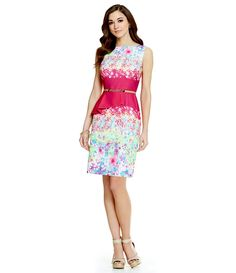 6bd981e55b70 Antonio Melani Playing Favorites Tiago Belted Floral Peplum Dress Casual  Dresses For Women, Dresses For