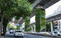 Mexico City is fighting air pollution by transforming its highway pillars into vertical gardens Green Architecture, Landscape Architecture, Architecture Design, Classical Architecture, Ancient Architecture, Sustainable Architecture, Vertical Garden Design, Vertical Gardens, Urban Park