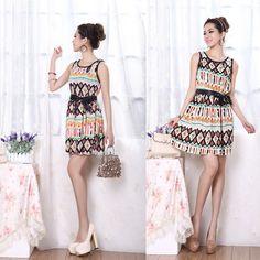 Envío Gratis 2013 Patrón de verano nuevo vestido femenino vestido ...