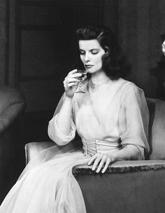Katharine Hepburn on stage in The Philadelphia Story.