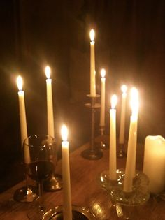 only candle light :)