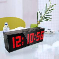 A led clock for office, home, or school! Big led digital and you can see it clearly from the distance.