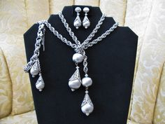 Monet Bolero Parure Necklace Bracelet by ToadSuckTreasures on Etsy, $120.00